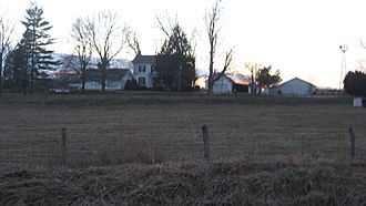 National Register of Historic Places listings in Edgar County, Illinois - Image: Asher Morton Farmstead near Paris