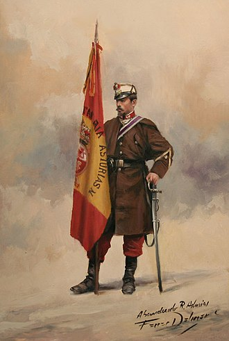 Spanish Army - A soldier of the 31st Infantry Regiment during the Hispano-Moroccan War, by Ferrer-Dalmau