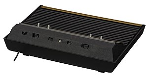 Atari joystick port - The ports first appeared, widely separated, on the back of the 2600.