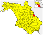 Locatio Atinae in provincia Salernitana
