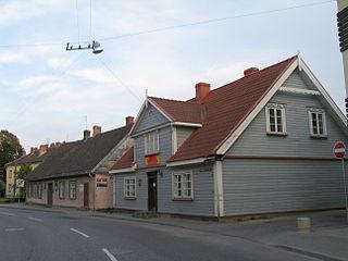 Aizpute Town in Aizpute Municipality, Latvia