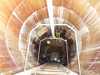 Lysimeter - View into the inspection chamber of a lysimeter station