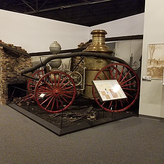 Augusta fire of 1916 - Image: Augusta Fire of 1916 Display