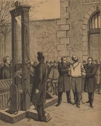 Capital punishment - Anarchist Auguste Vaillant guillotined in France in 1894