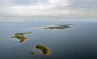Väinameri - Small islets in the Väinameri.