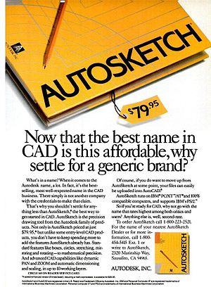AutoSketch - AutoSketch ad from a Sep 13, 1988 issue of PC Magazine