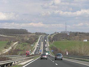 M1 motorway (Hungary) - Image: Autobahn M1HU 2