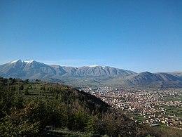 Foto panoramica di Avezzano