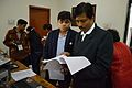 Ayan Choudhury and Jayanta Nath - Registration Desk - Bengali Wikipedia 10th Anniversary Celebration - Jadavpur University - Kolkata 2015-01-09 2485.JPG
