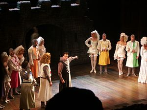 Hank Azaria - Azaria (center) performing in Spamalot, December 2005