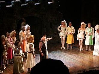 Hank Azaria - Azaria (center) performing in Spamalot, December 2005