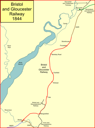 Bristol and Gloucester Railway - The Bristol and Gloucester Railway in 1844