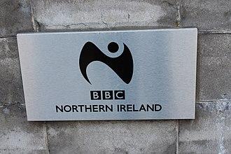 Gill Sans - The BBC logo at BBC Broadcasting House, Belfast