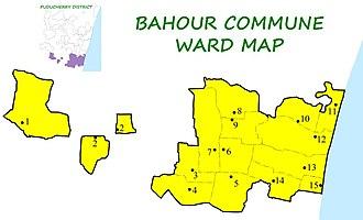Bahour Commune - Image: BHR Wards