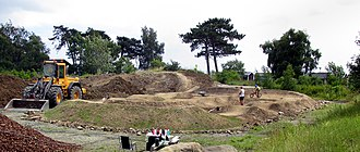 BMX - Building of a BMX track. 2016 in Ystad