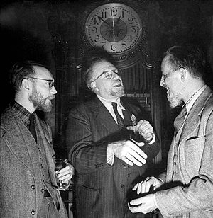 Fletcher Pratt - Fletcher Pratt (left) with fellow Baker Street Irregulars Christopher Morley and Rex Stout (1944)