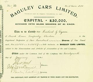 Baguley Cars Ltd automobile manufacturer