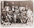 Bahadur Khanji III, Nawab of Junagadh, and state officials, 1880s.jpg
