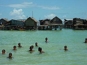 Sama-Bajau - A Sama-Bajau village in Omadal Island, Sabah, Malaysia