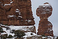Balanced Rock, dusted with snow. (8420687259).jpg