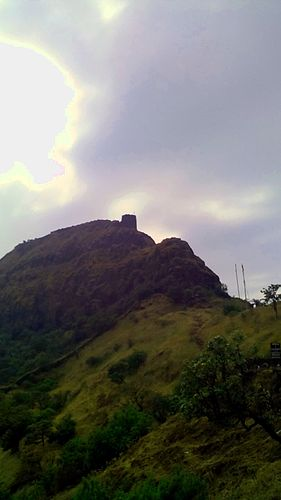 View of Balle Killa (Watch tower) from the base of the mountain, while acsent