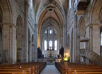 Bamberg Cathedral - The nave of Bamberg Cathedral