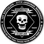 Unofficial 1st Battalion-37th Armored Regiment (Bandit Battalion) logo.