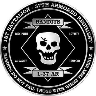 37th Armored Regiment - Unofficial 1st Battalion-37th Armored Regiment (Bandit Battalion) logo.