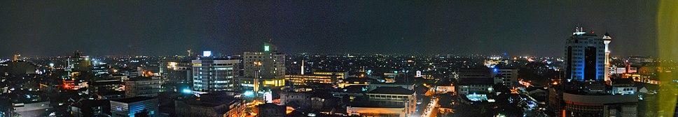Night view of Bandung city center