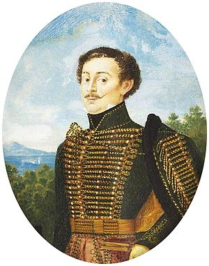 Frog (fastening) - Barabás Portrait of a Nobleman wearing Hussar Dress (1833)
