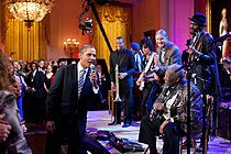 Barack Obama singing in the East Room.jpg