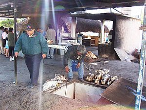 Barbacoa - The original (or traditional) type of barbacoa oven