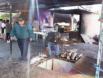 Barbacoa - The original (or traditional) type of barbacoa oven