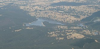 Barossa Reservoir - Barossa Reservoir from the air