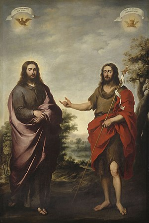 Saint John the Baptist Pointing to Christ