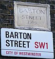 Barton Street sign dated 1722 - geograph.org.uk - 1125739.jpg
