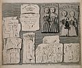 Bas-reliefs of the conjoint twins called the Biddenden Maids Wellcome V0007341.jpg