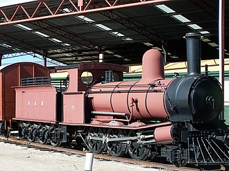 South Australian Railways - Y71 steam locomotive on display at the Western Australian Rail Transport Museum