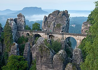 Saxon Switzerland - Bastei bridge in Saxon Switzerland