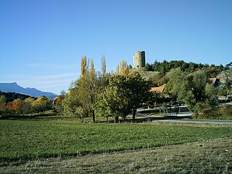La Bâtie-Vieille - The 12th century tower overlooks the village