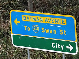 John Batman - A roadsign for Batman Avenue in Melbourne.