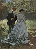 Bazille and Camille (Study for Déjeuner sur l'Herbe) A35075.jpg