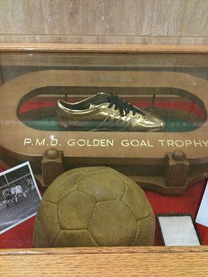 1973 FA Cup Final - The 1973 English FA Cup match ball with the Golden Boot awarded to Ian Porterfield, Sunderland AFC
