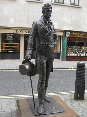 Beau Brummell - The 2002 statue of Beau Brummell by Irena Sedlecká in London's Jermyn Street