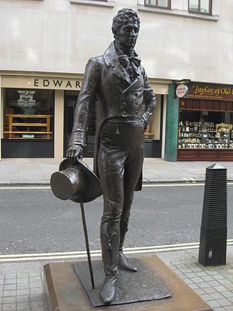 Beau Brummell - The 2002 statue of Beau Brummell by Irena Sedlecká in London's Jermyn Street