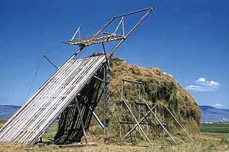 Beaverslide - A beaverslide with a full stack of hay.
