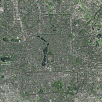 Beijing seen from SPOT satellite