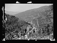 Beit Ed-Din. The Shehab Palace (held as a national monument). Lebanon. Deir el-Kamr. Typical terraced hillsides LOC matpc.15453.jpg