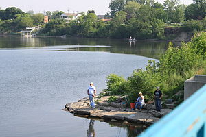 English: Belleville Michigan, fishing on Ediso...