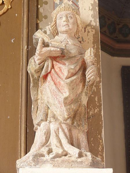 Belrupt-en-Verdunois (Meuse) église, statue d'un saint